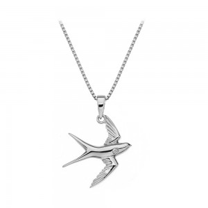 Hot Diamonds Paradise Swallow Silver Pendant
