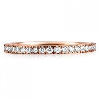 18ct Rose Gold Micro Set Brilliant Cut Full Eternity Ring