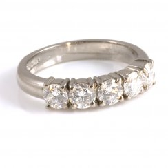 18ct White Gold Claw Set Diamond Half Eternity Ring