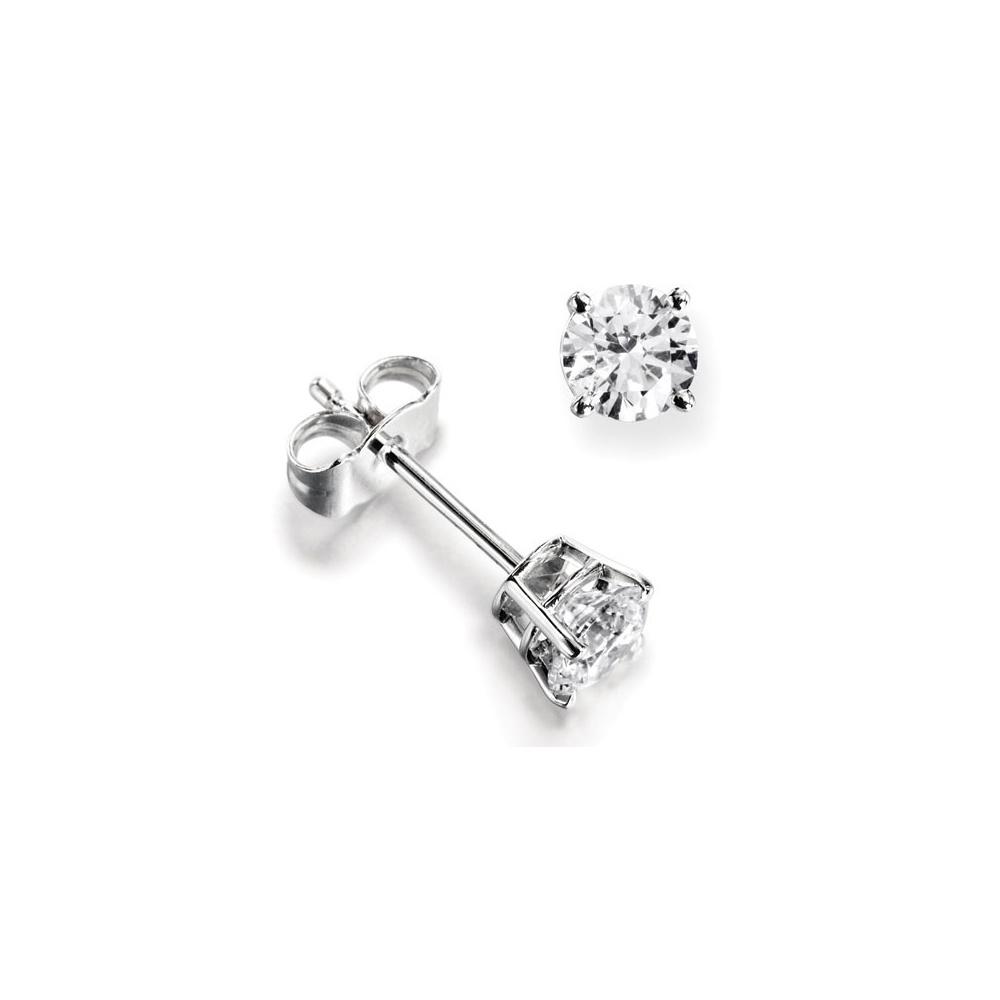 18ct White Gold Diamond Stud Earrings 0 80ct