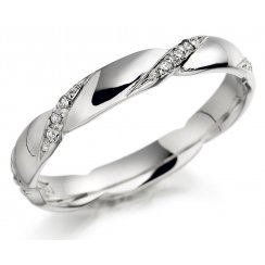 18ct White Gold Diamond Set Band