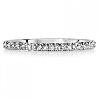 18ct White Gold Micro Set Brilliant Cut Full Eternity Ring