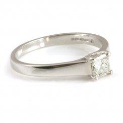 18ct White Gold Tiffany Style Princess Cut Diamond Ring