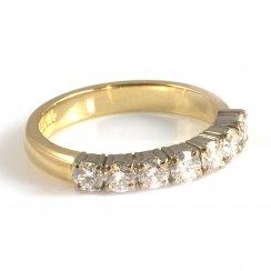 18ct Yellow Gold Claw Set Diamond Half Eternity Ring