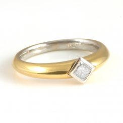 18ct Yellow Gold Diamond Engagement Ring