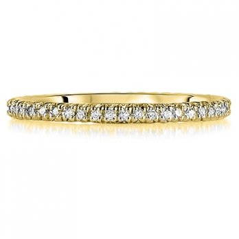 18ct Yellow Gold Micro Set Brilliant Cut Full Eternity Ring