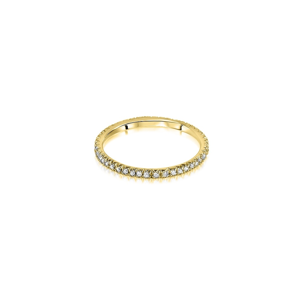 18ct yellow gold micro set brilliant cut eternity ring