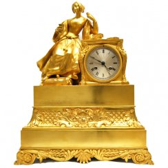19th Century French Figural Mantel Clock