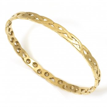 9ct Yellow Gold Celtic Style Bangle