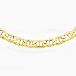 9ct Yellow Gold Diamond Cut Anchor Curb Chain