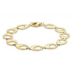 9ct Yellow Gold Open Oval Bracelet