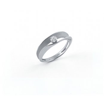 Anna Maria Cammilli 18ct White Gold & Diamond Dune Assolo Double Open Band Ring