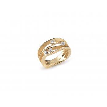 Anna Maria Cammilli 18ct Yellow Gold & Diamond Dune textured Scatter Ring