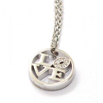 Babette Wasserman Love Rhodium Plated Silver Necklace