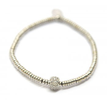 Babette Wasserman Mecurial Rhodium Plated Silver Bracelet