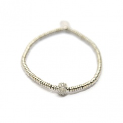 Mecurial Rhodium Plated Silver Bracelet