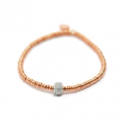 Mecurial Rose Gold Plated Silver Bracelet