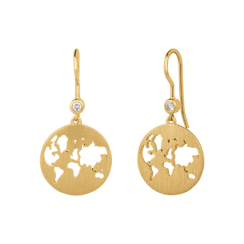 byBiehl Beautiful World Gold Plated Zirconia set Earrings