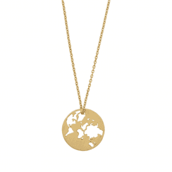 byBiehl Beautiful World Necklace Gold Plated