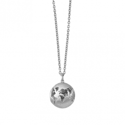 byBiehl Beautiful World Silver Locket on 30inch chain