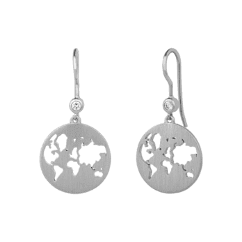 byBiehl Beautiful World Silver Zirconia Set Earrings
