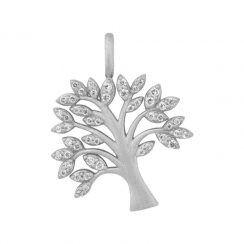 byBiehl Life Tree Silver pendant set with Zirconia (chain not inc)