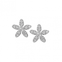 byBiehl Silver Forget-me-not sparkle earrings