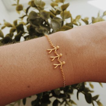 byBiehl Together family 3 Gold plated bracelet