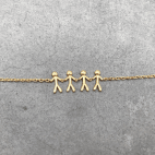 byBiehl Together family 4 gold plated bracelet