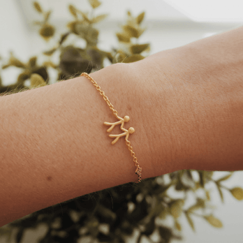 byBiehl Together my Love gold plated bracelet-Zirconia set