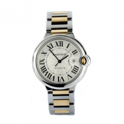 Cartier Ballon Bleu- Stainless Steel and 18ct yellow gold
