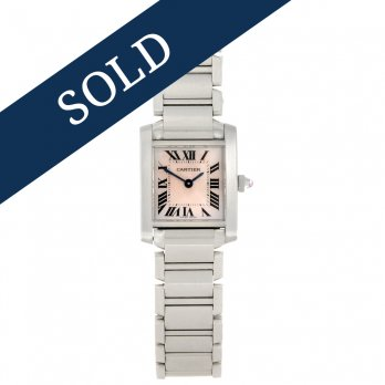 Cartier Ladies Mother of Pearl Tank Française Watch