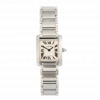 Cartier Ladies Stainless Steel Tank Française Watch