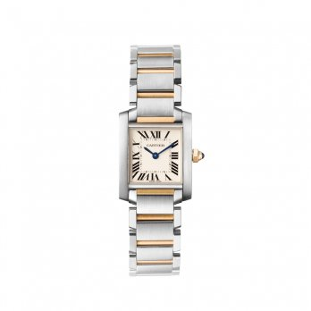 Cartier Ladies Tank Française Small Steel & Yellow Gold