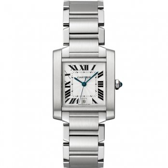Cartier Large Tank Française Cartier Stainless Steel Automatic Watch