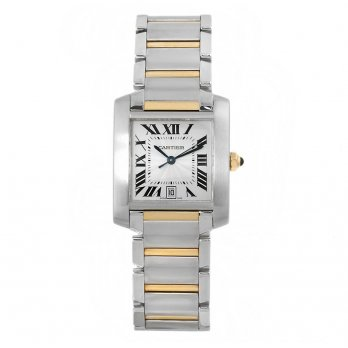 Cartier Large Tank Française Stainless Steel and 18ct Gold Watch