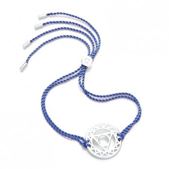 Daisy Silver Chakra Bracelet - Blue - Vishuddha The Throat