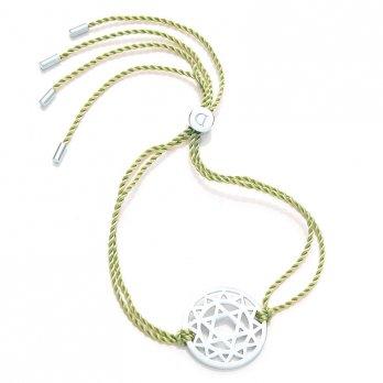 Daisy Silver Chakra Bracelet - Green - Anahata The Heart
