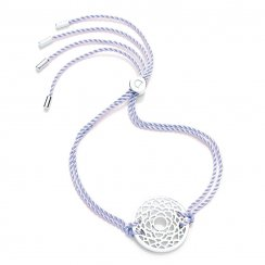 Silver Chakra Bracelet - Lilac - Sahasrara The Crown