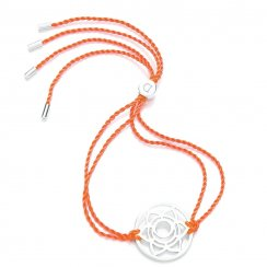 Silver Chakra Bracelet - Orange - Svadhisthana The Sacral