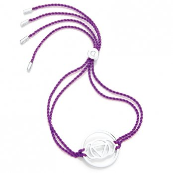 Daisy Silver Chakra Bracelet - Purple - Ajna The Brow