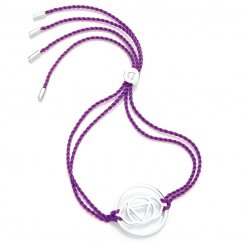 Silver Chakra Bracelet - Purple - Ajna The Brow
