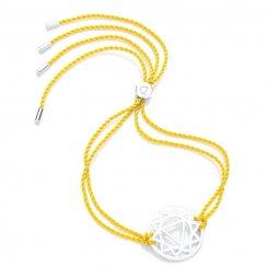 Silver Chakra Bracelet - Yellow - Manipura The Solar Plexus