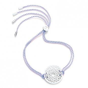 Daisy Silver Chakra Bracelet - Lilac - Sahasrara The Crown