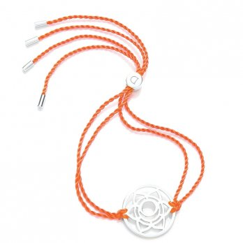Daisy Silver Chakra Bracelet - Orange - Svadhisthana The Sacral