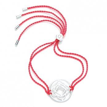 Daisy Silver Chakra Bracelet - Red - Muladhara The Base