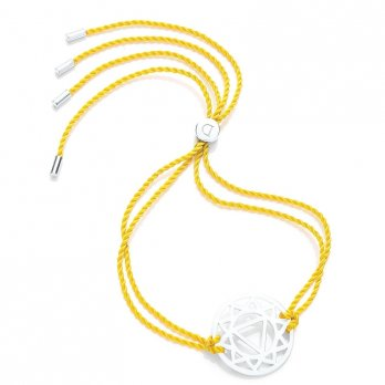 Daisy Silver Chakra Bracelet - Yellow - Manipura The Solar Plexus