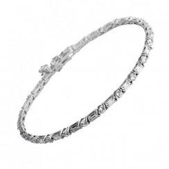 Diamonfire Round & Baguette Full Tennis Bracelet