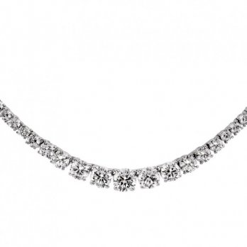 Diamonfire Silver Flow Necklace