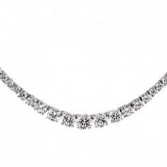 Diamonfire Silver Flow Necklace